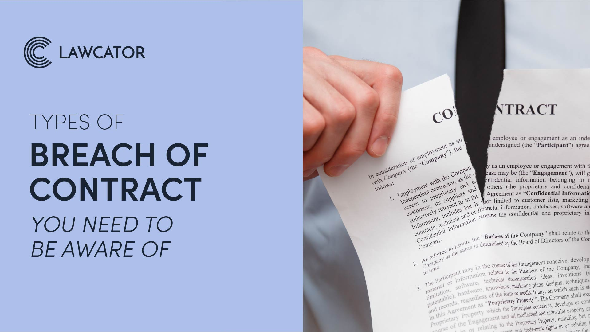 Types of breach of contract you need to be aware of